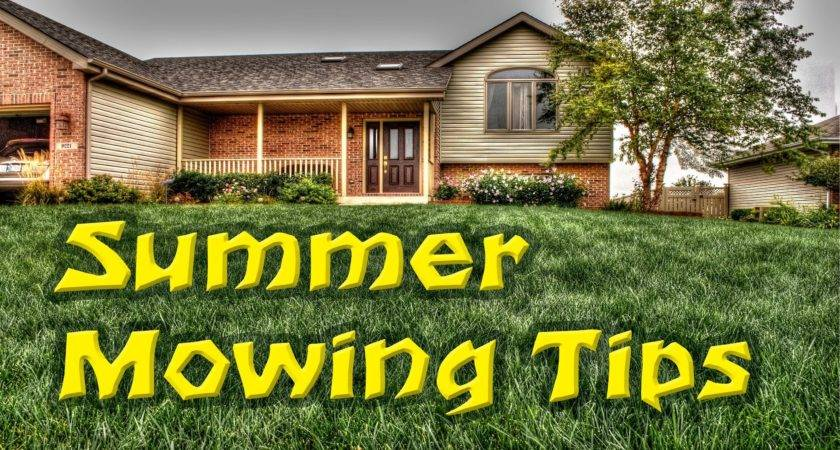Summer Lawn Mowing Tips Youtube