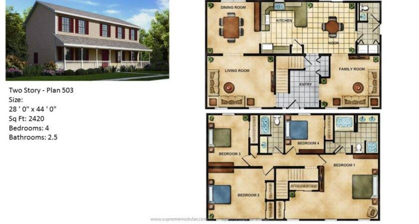 Supreme Modular Homes Featured Home Two Story Plans