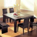 Table Hardwood Dining Set Consist Four Chairs