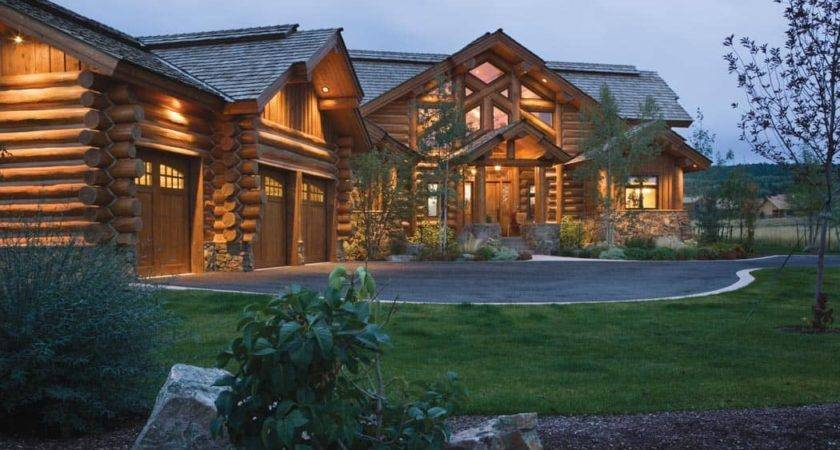 Teton Springs Idaho Log Home Precisioncraft