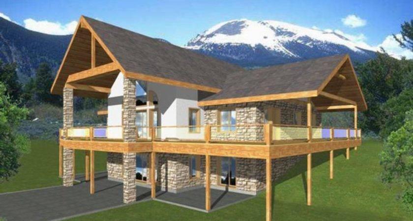Timber Frame Home House Plans Walkout Basement Summer
