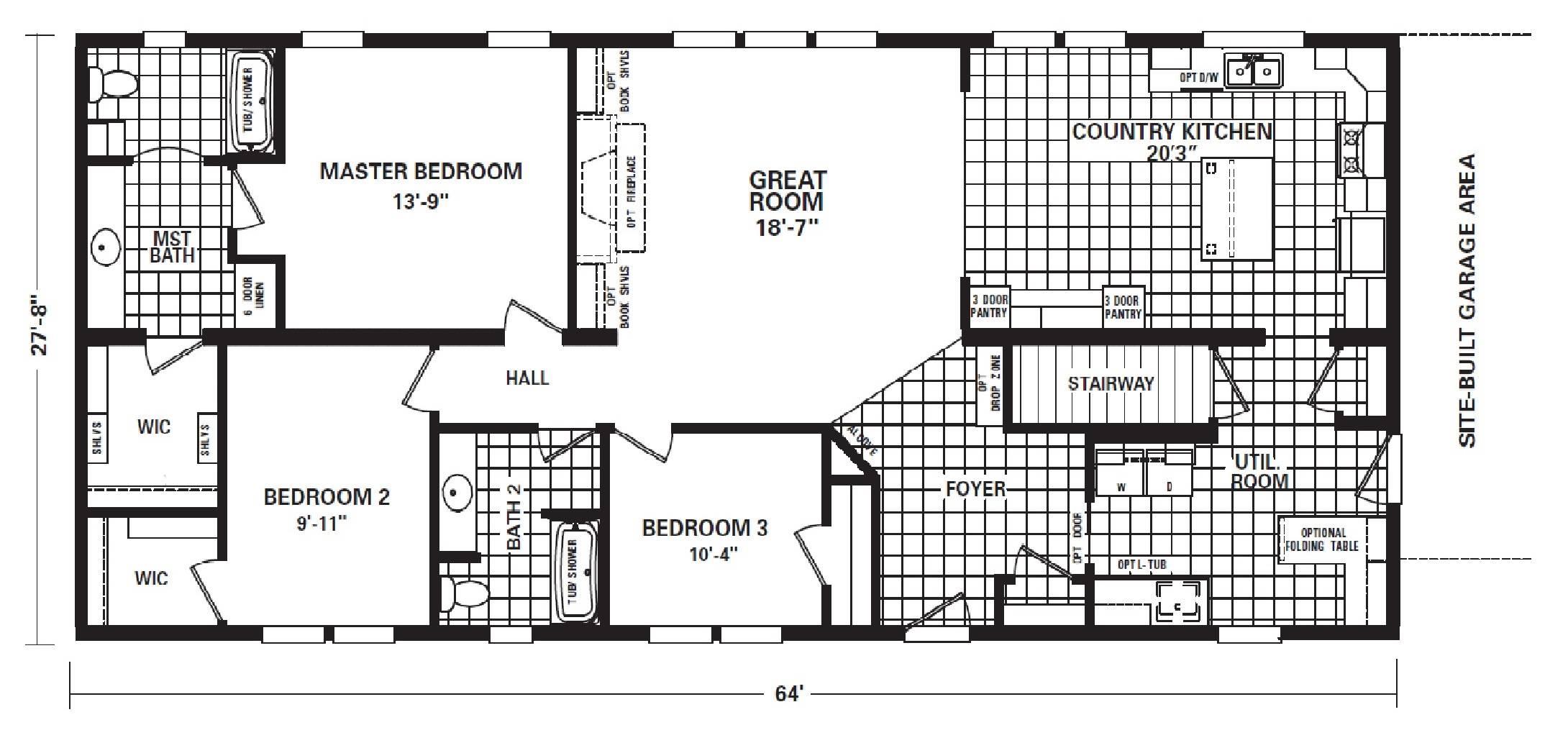 Timberland Mod Floor Plan