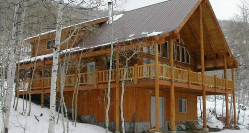 Timberline Log Home Design Plan Feet Main Level