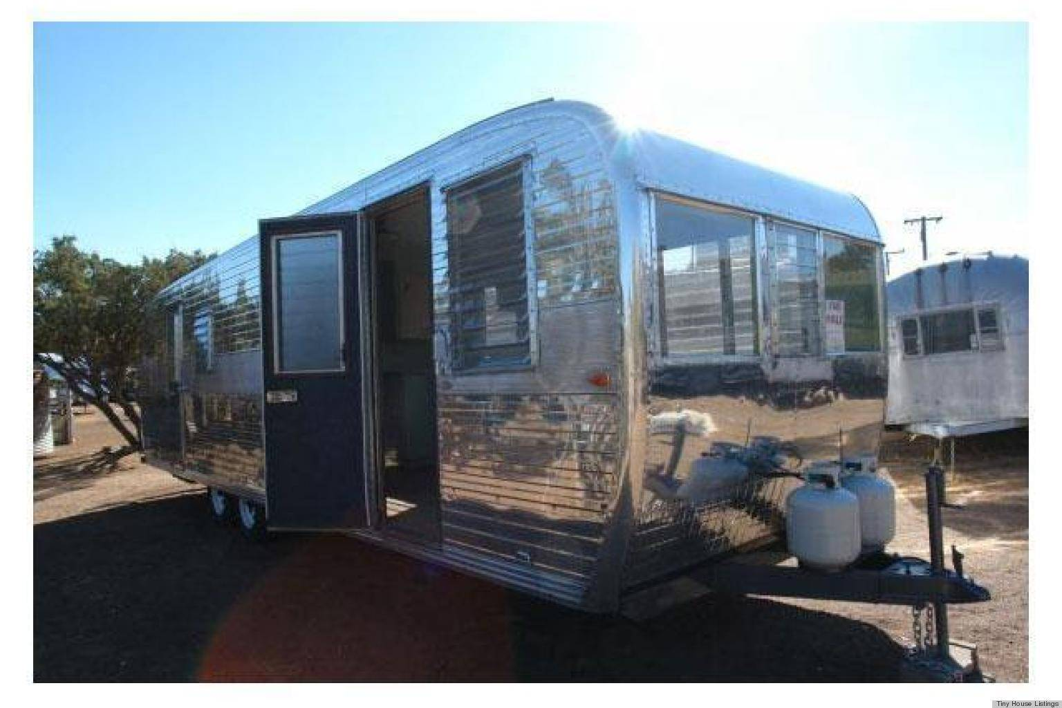 Tiny Homes Restored Vintage Boles Aero Aluminum Trailer Sale