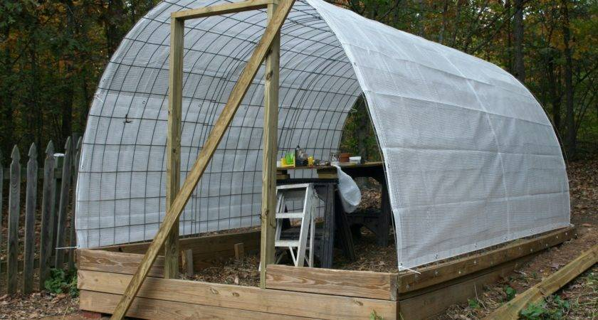 Tiny Homestead Building Permanent Greenhouse Cattle Panels