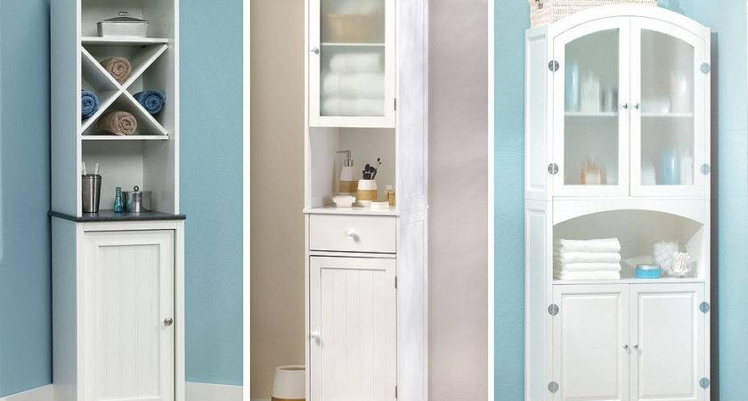 Toilet Storage Bathroom Cabinets Small Spaces