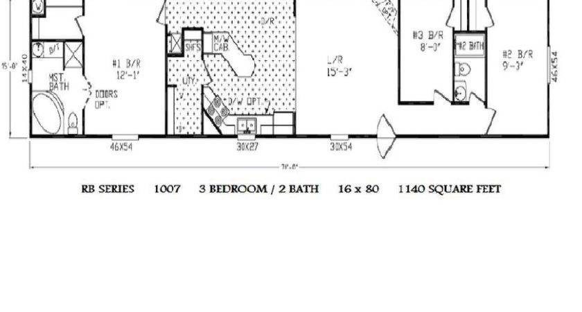 Trailer Park Homes Floor Plans Manufactured Single Wide