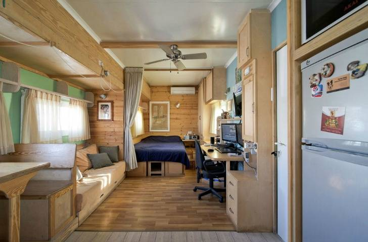 Transformed Into Amazing Green Mobile Home Joseph Tayyar Truck