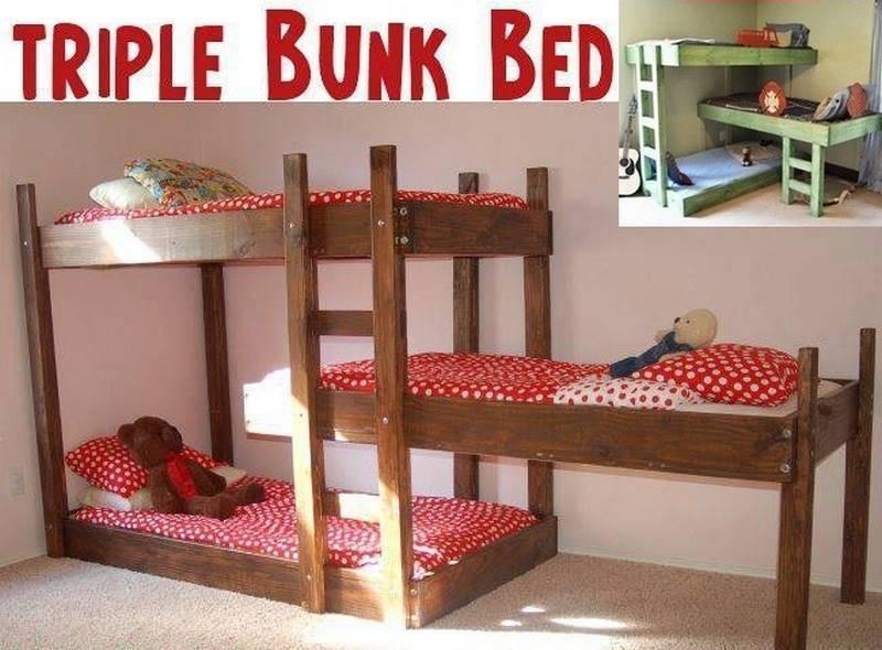 Triple Bunk Beds Plans Diy Cozy Home