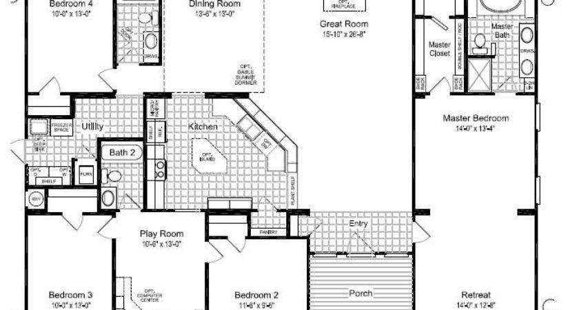 Triple Wide Manufactured Homes Floor Plans Bedroom