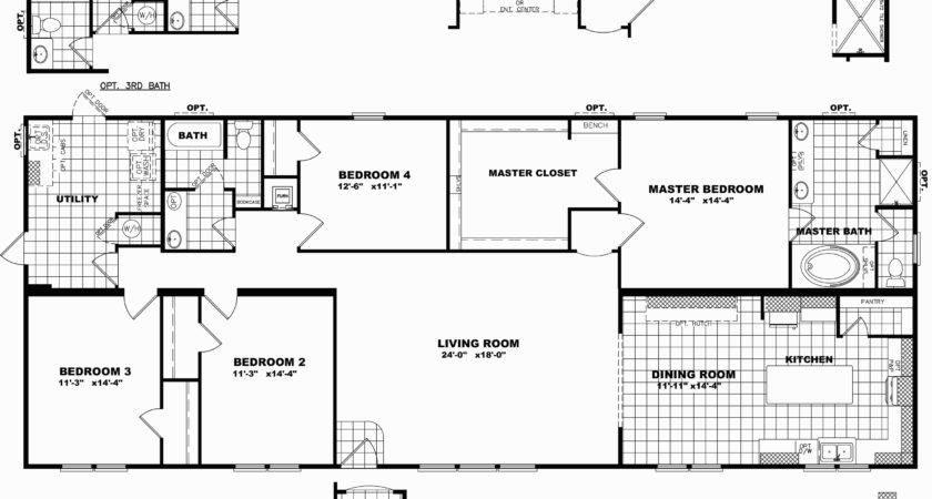 Triple Wide Mobile Home Floor Plans Delightful Clayton