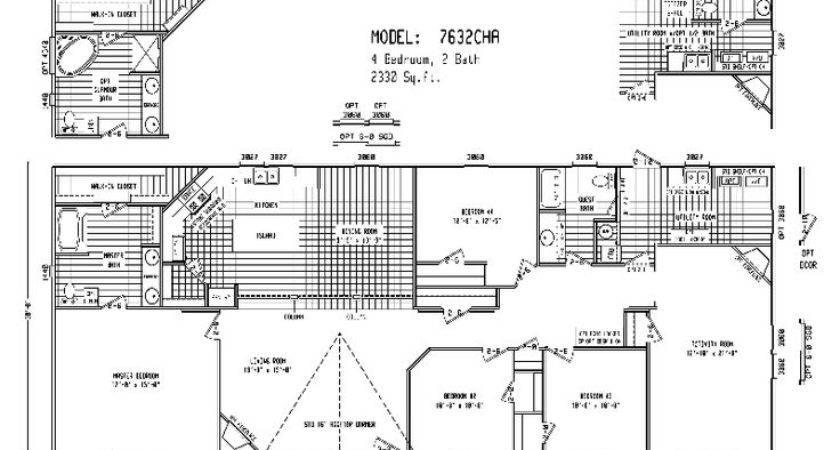 Triple Wide Mobile Home Floor Plans Double House