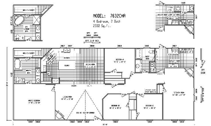Triple Wide Mobile Home Floor Plans Double House