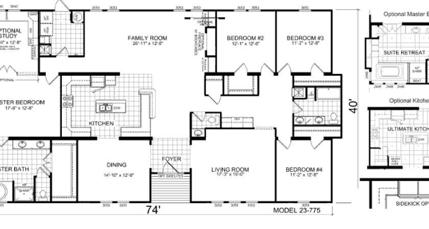 Triple Wide Mobile Home Floor Plans Manufactured