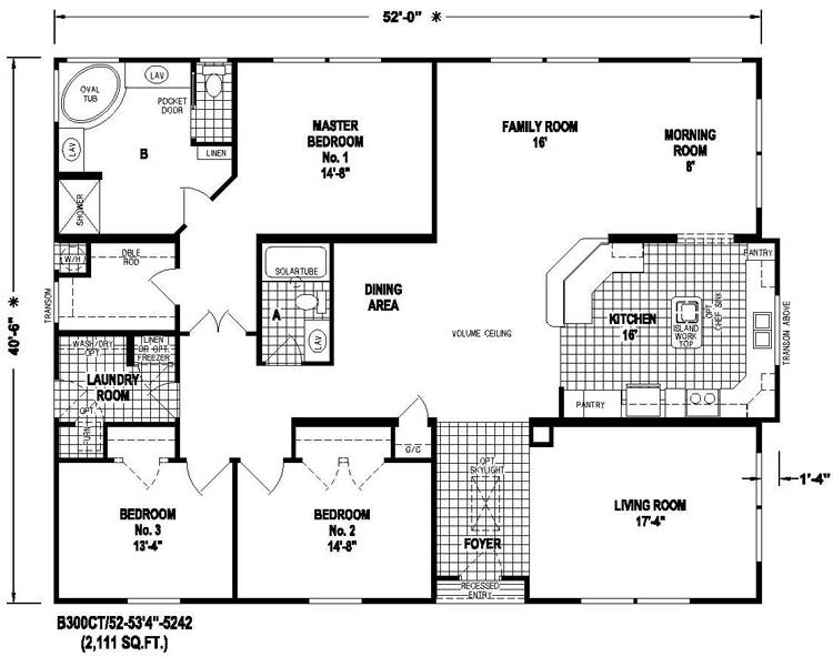 Triple Wide Mobile Homes Floor Plans Sale All