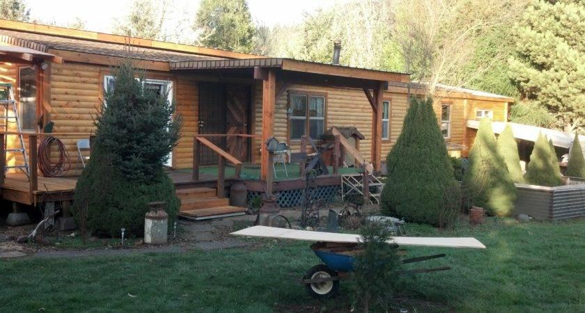 Turned Into Dream Home After Cedar Log Siding
