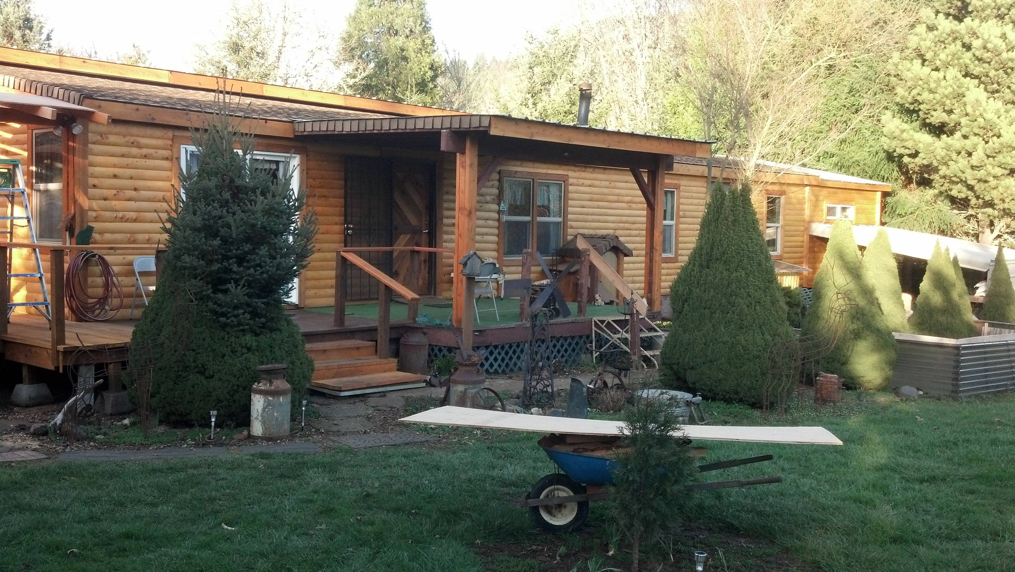 Turned Into Dream Home After Cedar Log Siding