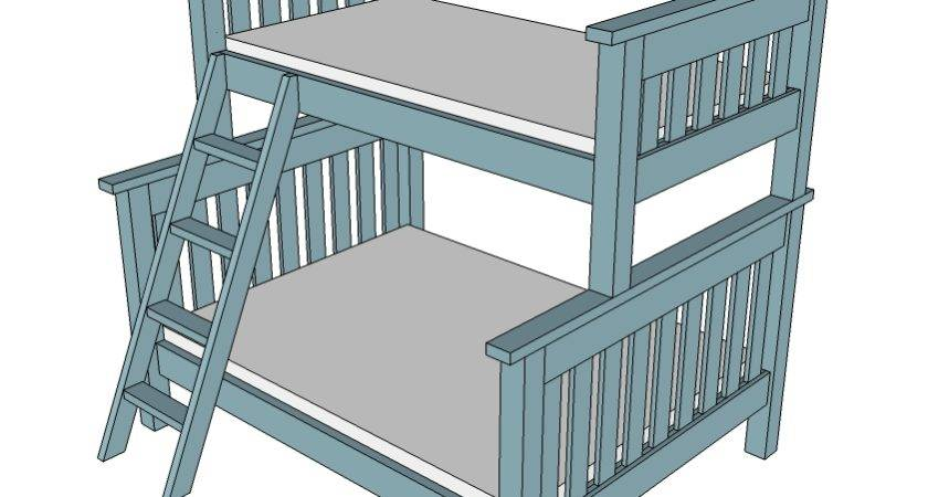 Twin Over Bunk Bed Plans Pdf Woodworktips