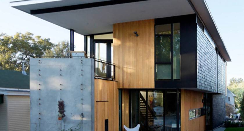 Two Compact Modern Homes Fill Challenging Empty Lots