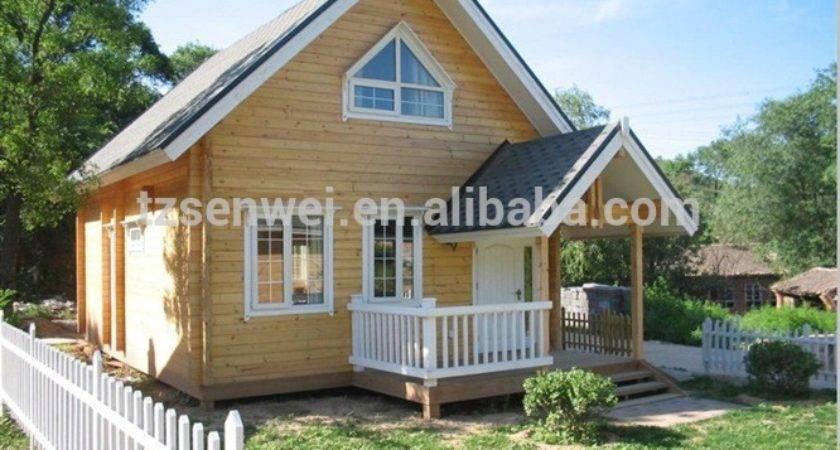 Two Storey Large Tilt Wooden House Prefabricated Homes Mobile Villa