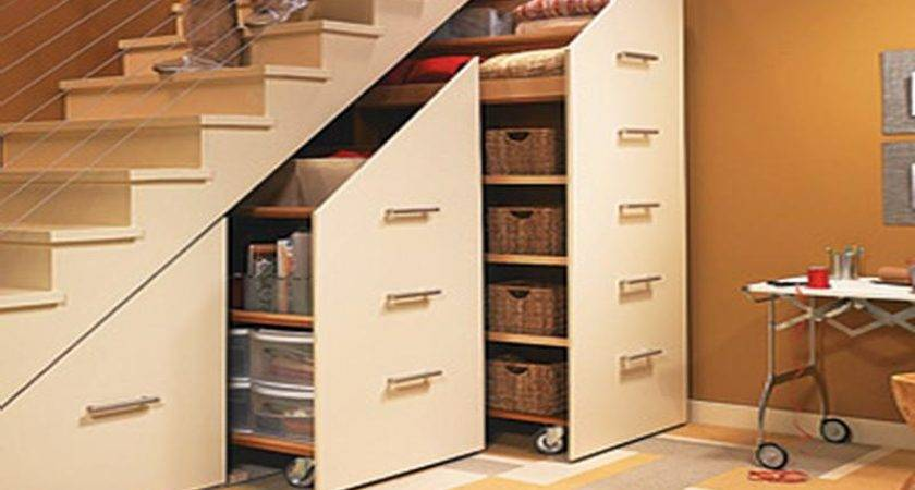 Under Stairs Storage Cabinets Small Spaces Home Design