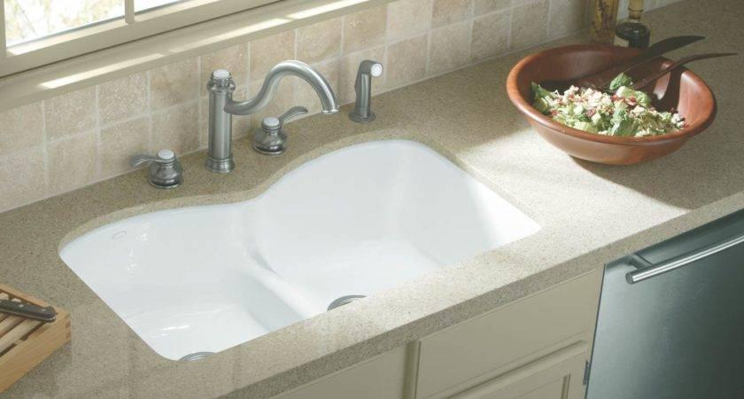 Undercounter Kitchen Sink White Double Bowl Sinks Amazon