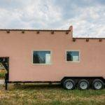 Une Tiny House Finition Aspect Terre Crue Build Green