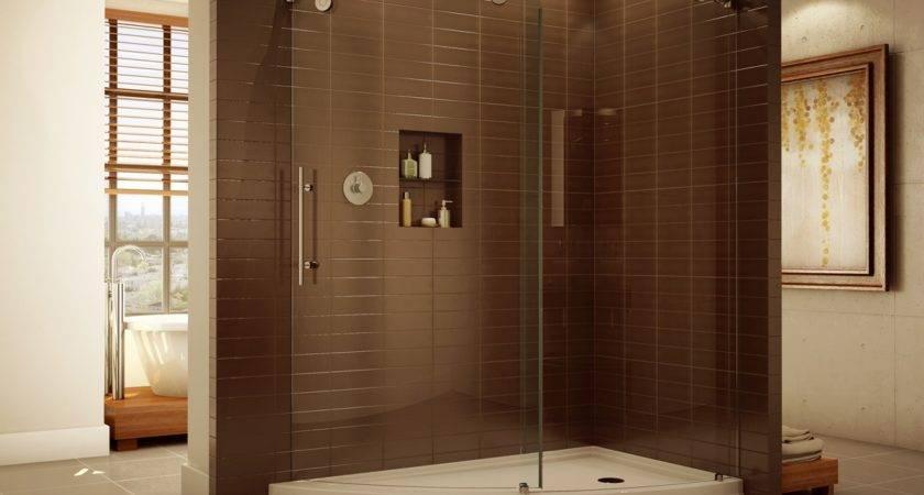 Unique Shaped Slice Corner Shower High End Glass Enclosure