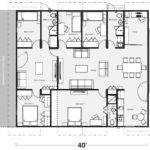 Voguish Floor Plans Container Homes One Bedroom