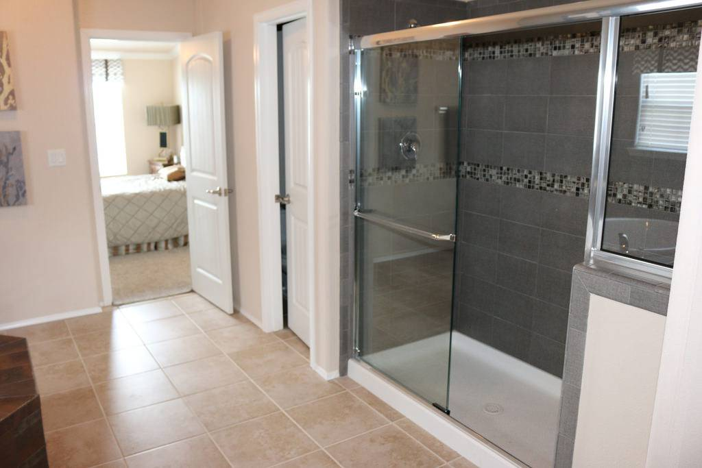 Walk Shower Master Bath Casa Grande Palm Harbor