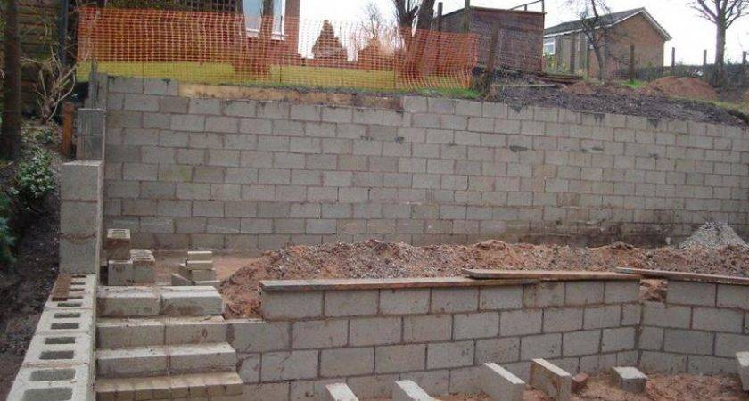 Wall Concrete Block Retaining Building