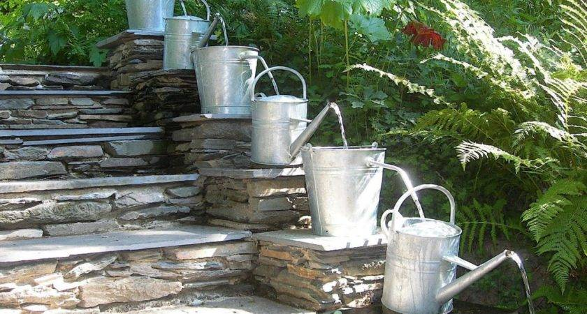 Watering Can Cascade Fountain