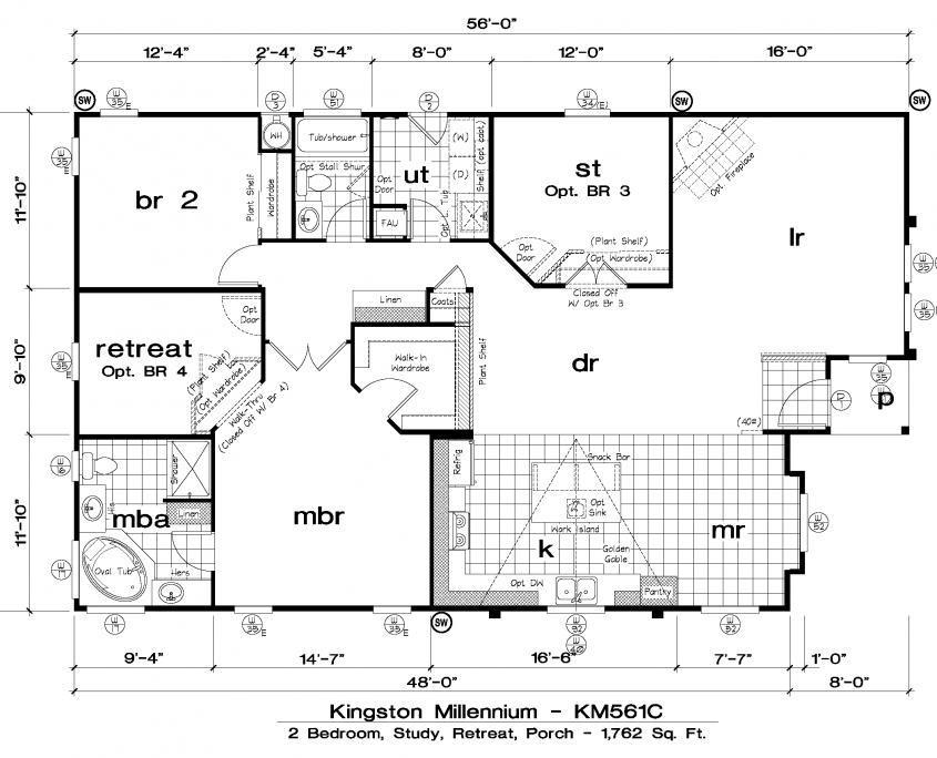 West Kingston Millennium Floor Plans Starhomes Manufactured Homes