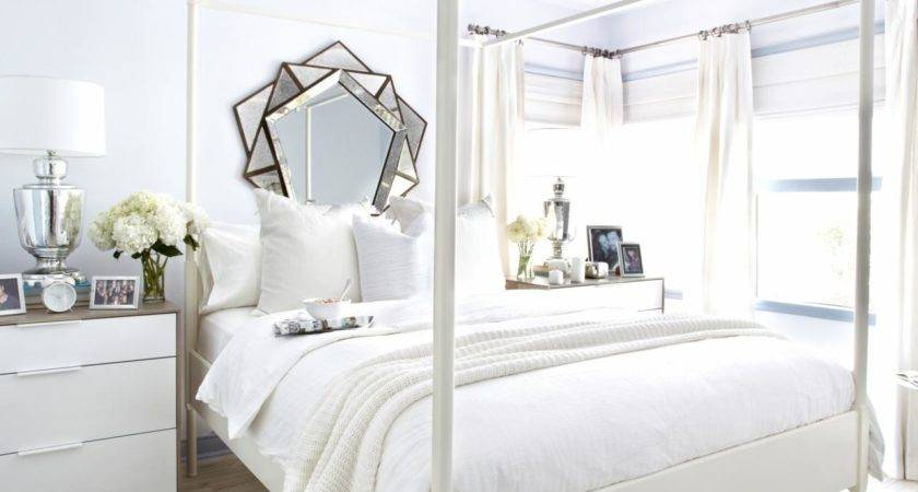 White Guest Bedroom Makeover Bedrooms Decorating