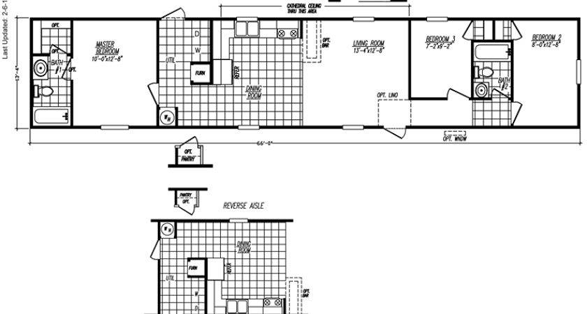 Wide Mobile Home Floor Plans Bedroom Bath
