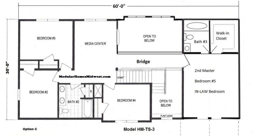 Wide Two Story Modular Home Floor Plan