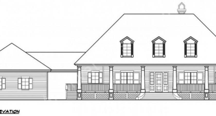 Williamsburg House Plan Colonial Front Elevation