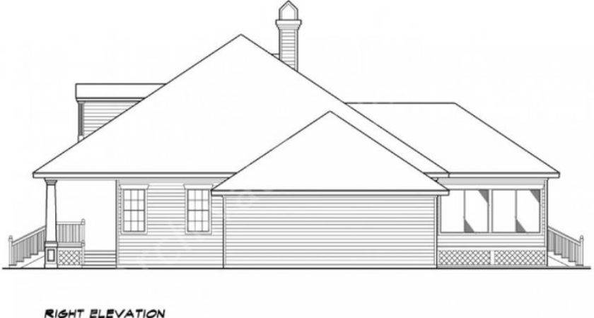 Williamsburg House Plan Expandable Right Side