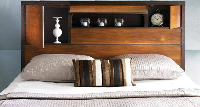 Wood Headboard Design Pure Bed Decoration